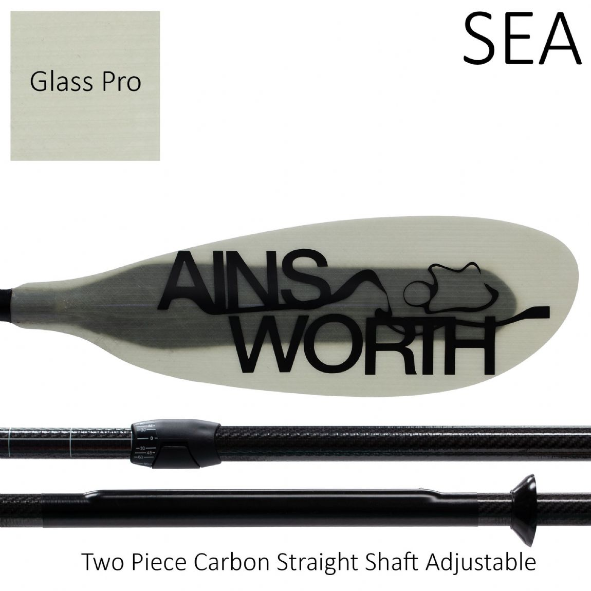 SEA (Glass Pro) Two Piece Carbon Straight Shaft Adjustable
